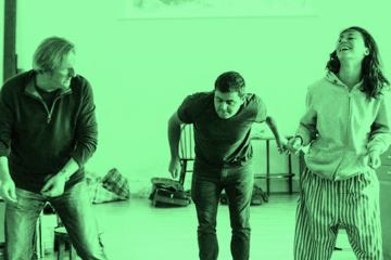 The Night Alive cast in rehearsal