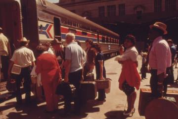 Amtrak station 1974