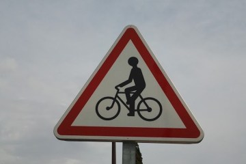 Bicycle lane in Nice