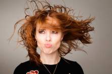 Angela Scanlon for the Get Blown Away fundraiser campaign for ISPCC Childline