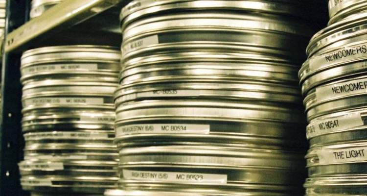 Reels of film at IFI Film Archive