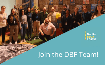 photo of thirteen volunteers includes DBF logo and reads 'Join the DBF Team!