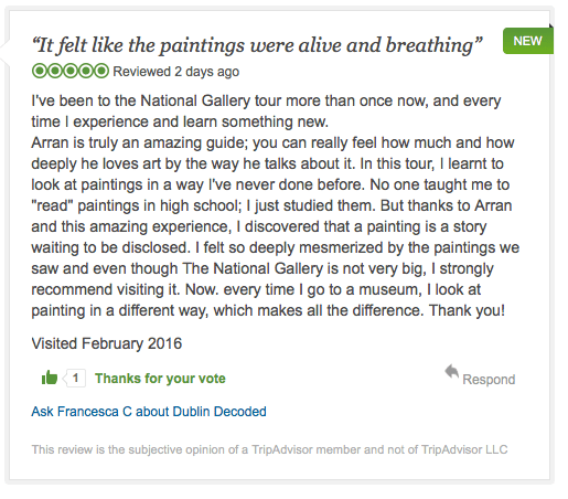 TRIPADVISOR REVIEW HOW to Read a PAINTING Francesca C