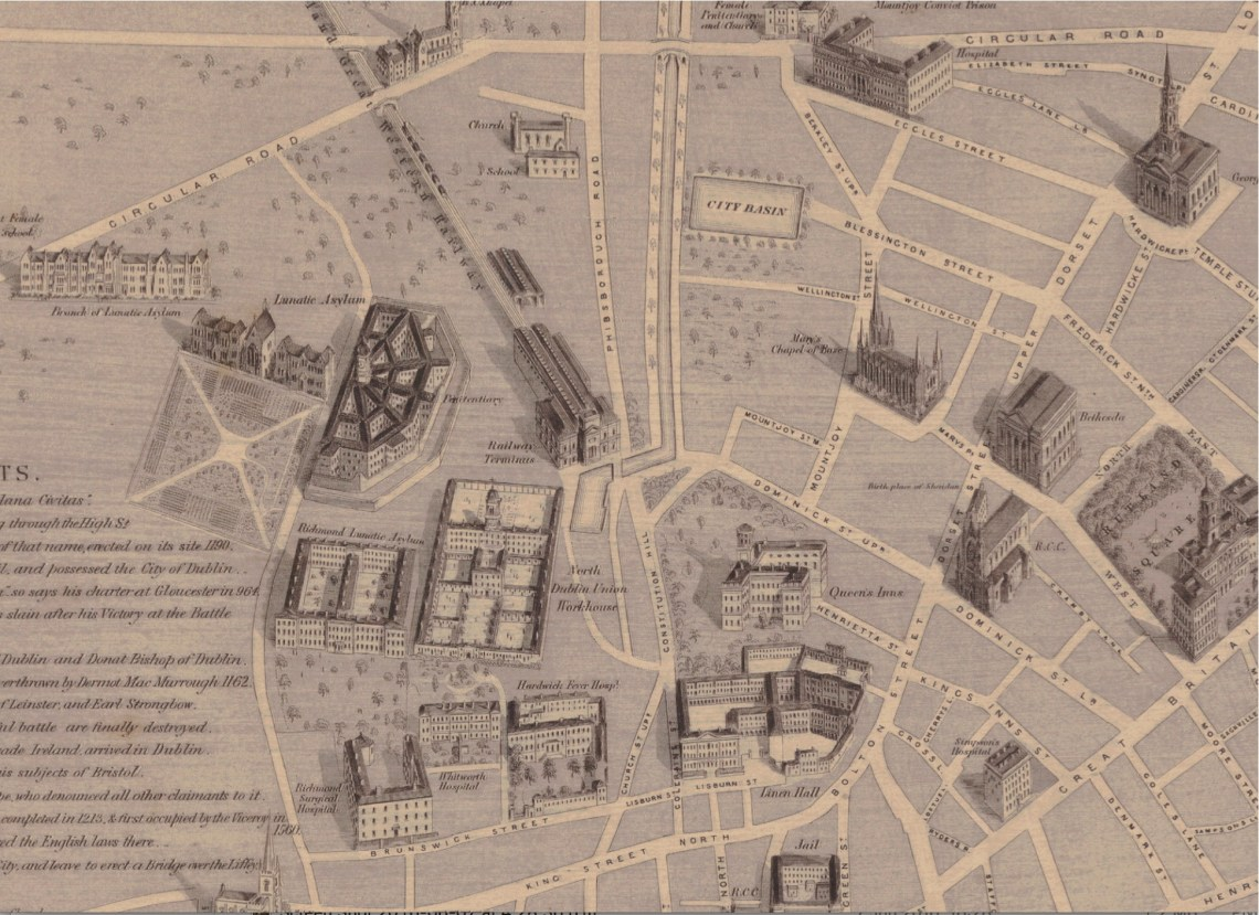 MAP Heffernans 1861 Map LINNENHALL RICHMOND Pent