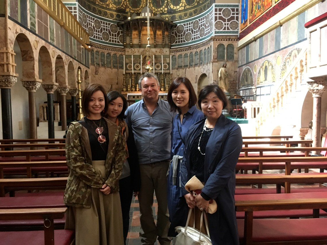 with the Nokazaki Family at the Univ Church