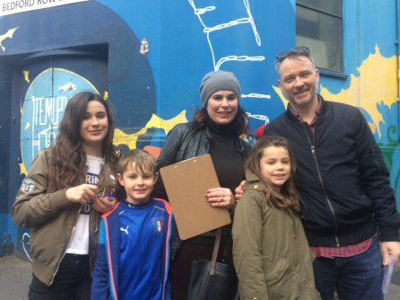Stephen Dawn & kids Temple bar Treasure Hunt