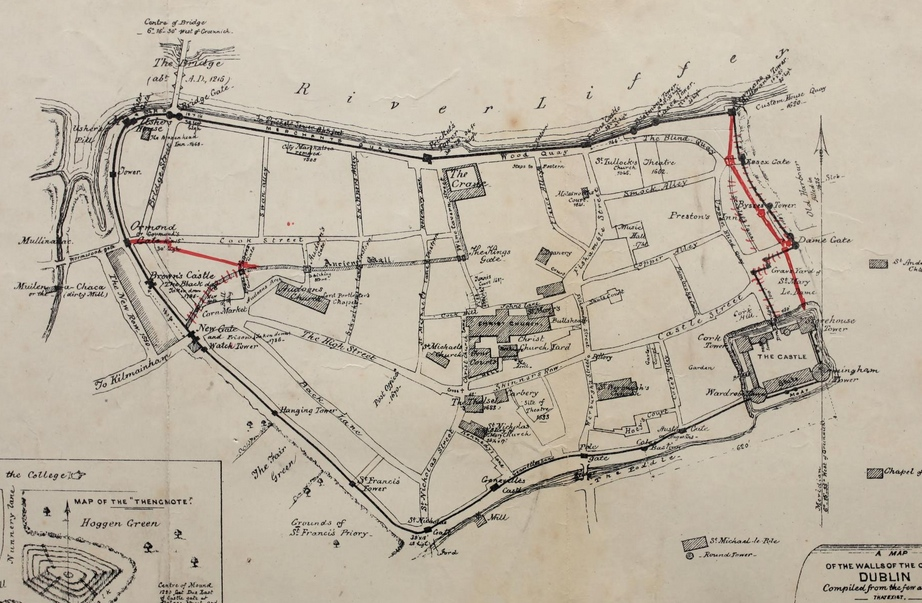 Walls of Dublin, Gilbert book and Irish Builder 1862