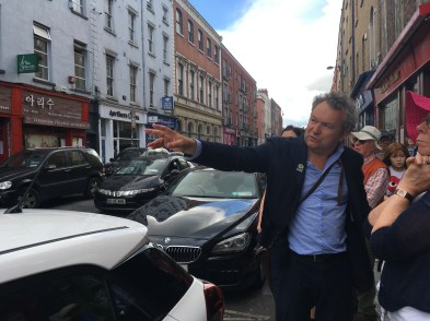 on Capel St with Arran Henderson of Dublin Decoded Tours