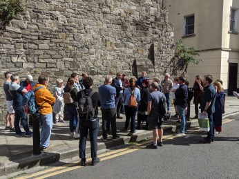Medieval Walls walk in the Dublin Liberties, with Arran Henderson of Dublin DEcoded, photo courtesy Kevin Reid