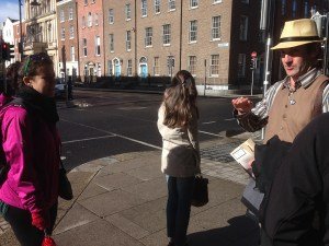 The Tour Guide explanation at Dublin Streets