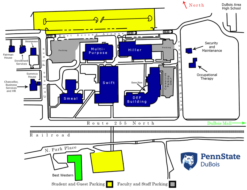Psu University Park Campus Map