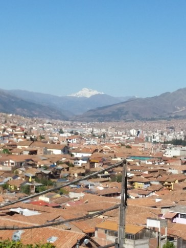 Atop of Cusco to pray. The snow covered mountain is Mt. Asungate