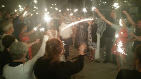 Seabrook wedding sparkler send-off