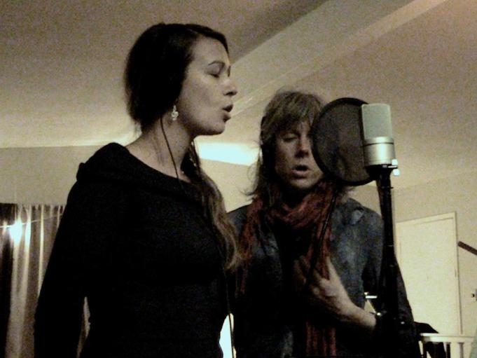 Charlotte Proud and MJ Vermette Recording Song on the Wind