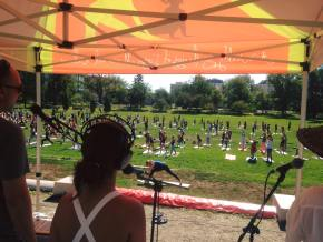 Yoga Rocks the Park Denver 2017