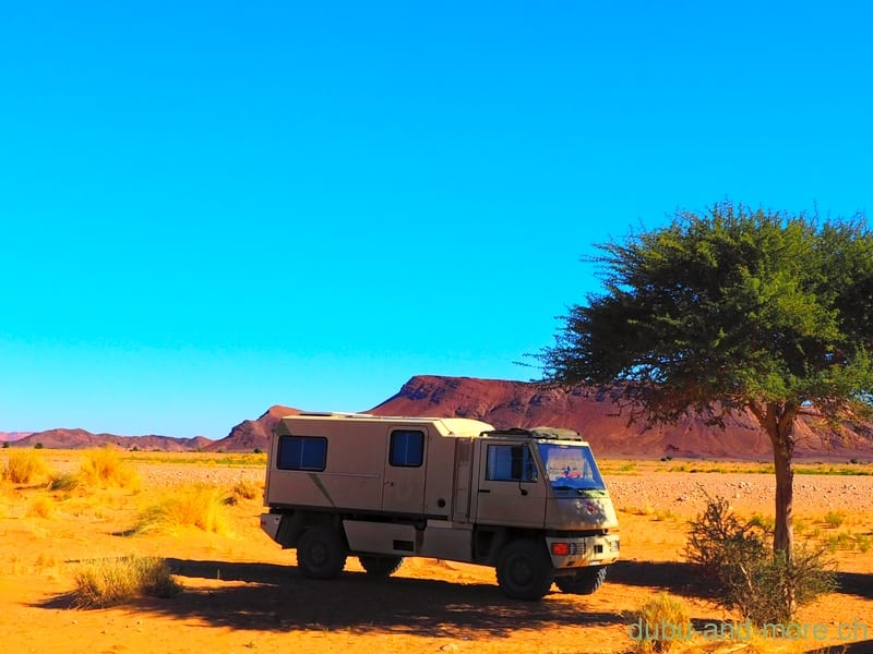 Einsam in der Wüste Marokkos