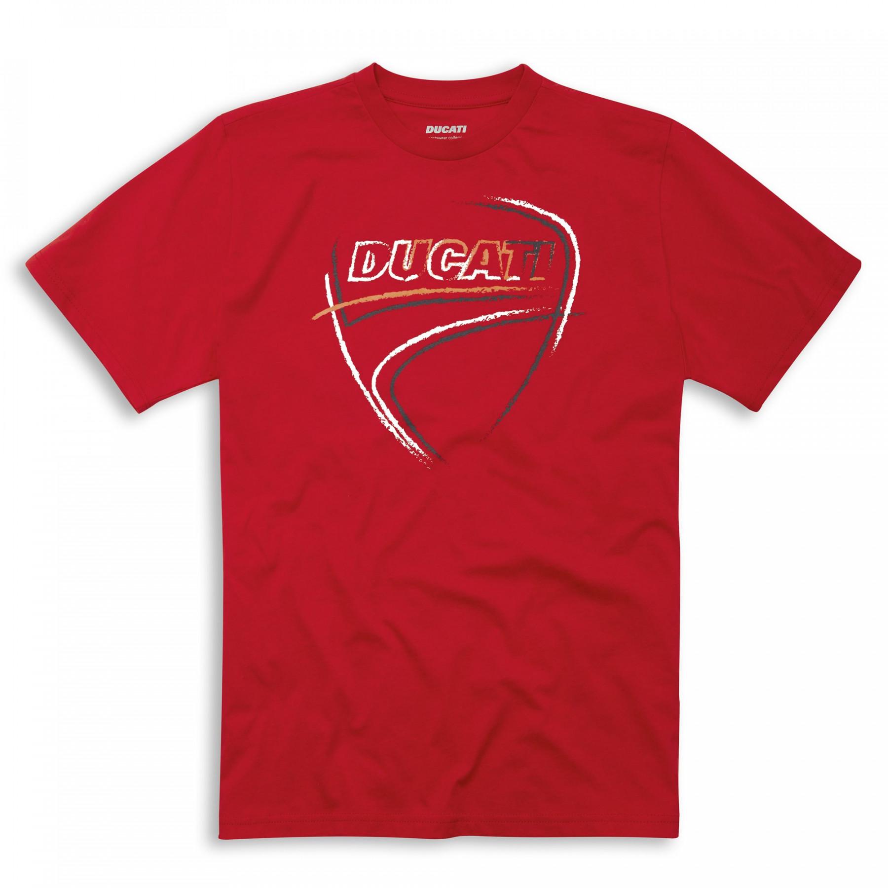 T-shirt Ducati Heart Beat rood