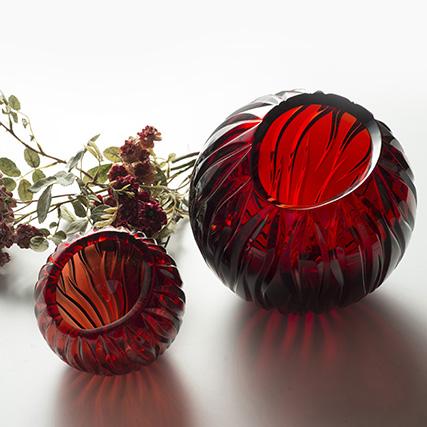GLAMOUR SFERA ROSSO  Glamour Sphera Vase Red  ø 25 / 35 cm