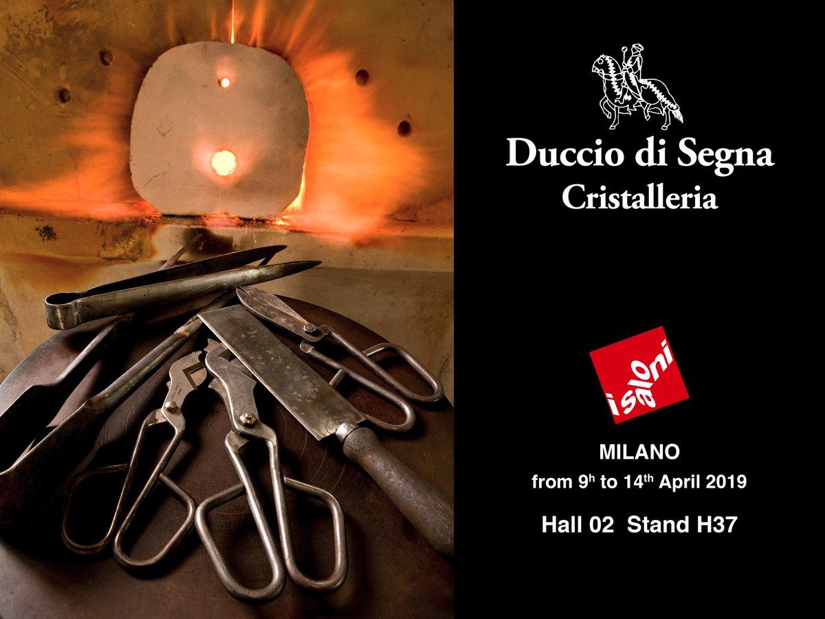 """Invito """"I Saloni"""" Milano 2019 Duccio di Segna cristalleria"""