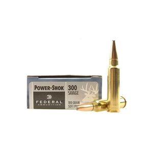 Federal PowerShok, 300 Savage, 180 Grain, Soft Point 300B