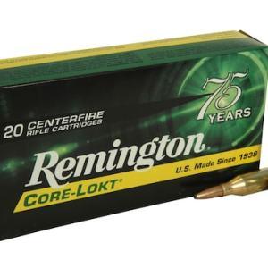 Remington Core-Lokt Ammunition 243 Winchester 100 Grain Core-Lokt Pointed Soft Point Box of 20