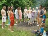 Spotkanie przy ognisku, jeszcze przed sauną