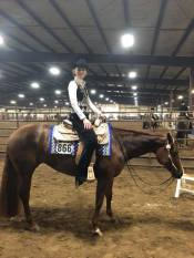 My Wild Invitation, Reserve Champion Green Western Pleasure slot class with Kenny Lakins at Gordyville.