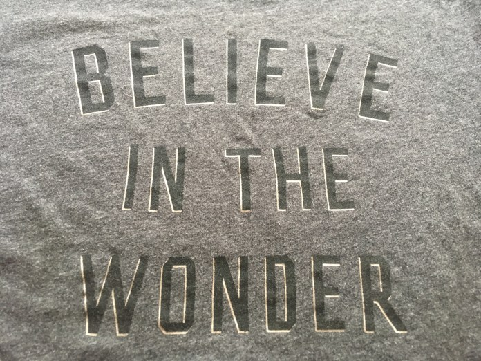 believe in the wonder