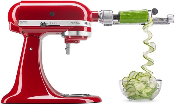 Peel apples potatoes and more with this kitchenaid spiralizer