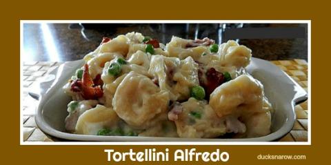 Tortellini Alfredo #recipes