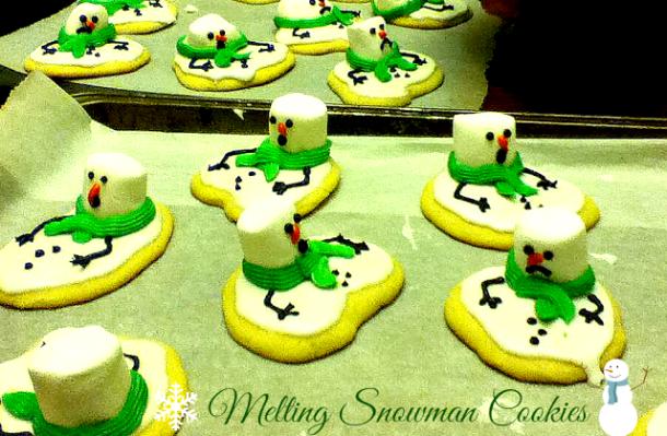 Melting Snowman Cookies, Christmas cookies, cookie recipe