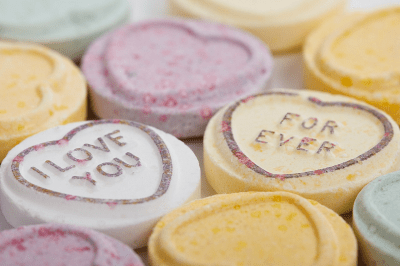 Valentine candy, personalized candy, heart candy