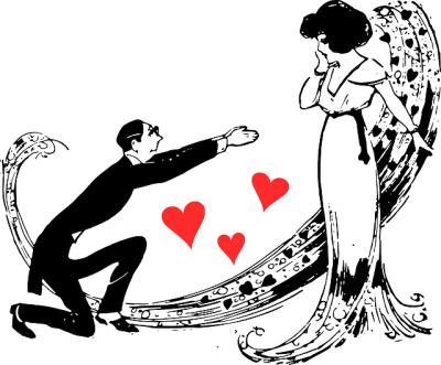 romantic couple, love, hearts, valentines