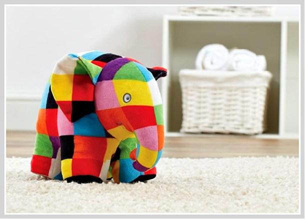 Elmer the Patchwork Elephant plush soft toy #Ad