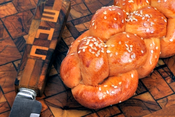 Jewish food includes delicious breads, except on Passover where they eat unleavened bread