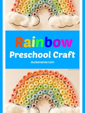 R is for Rainbow preschool craft and sorting activity #kids