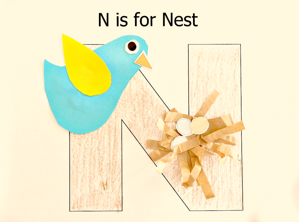 n is for nest preschool craft fun ducks 39 n a row. Black Bedroom Furniture Sets. Home Design Ideas