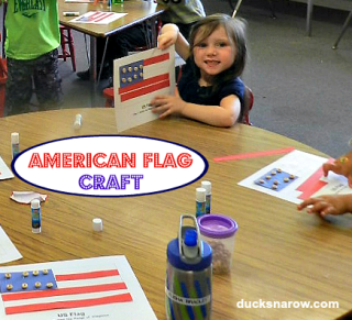 Preschool craft #flag #cheerios #crafts #patriotic Ducks 'n a Row