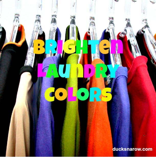 Brighten colors #laundry #salt #wash #clothes Ducks n a Row