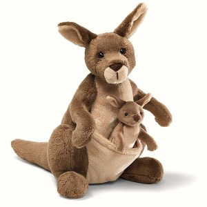 Adorable plush kangaroo momma toy with her little joey #ad
