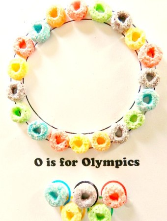 O is for Olympics preschool craft
