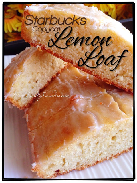Copycat lemon loaf