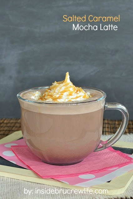 Salted caramel mocha latte #recipes