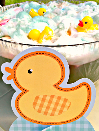 Cute little rubber ducky baby shower punch