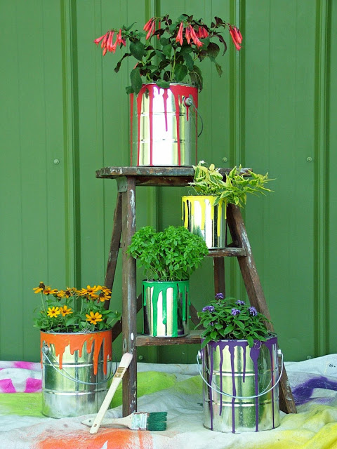 planters, flowers, floral display