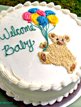 Homemade cake for a baby shower - It's A Boy!