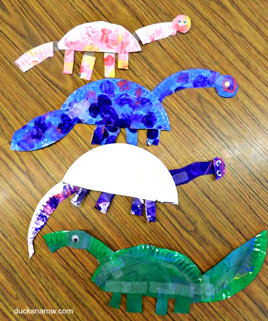 dinosaurs; paper plate crafts