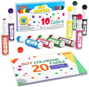 Washable dot markers for kids #ad