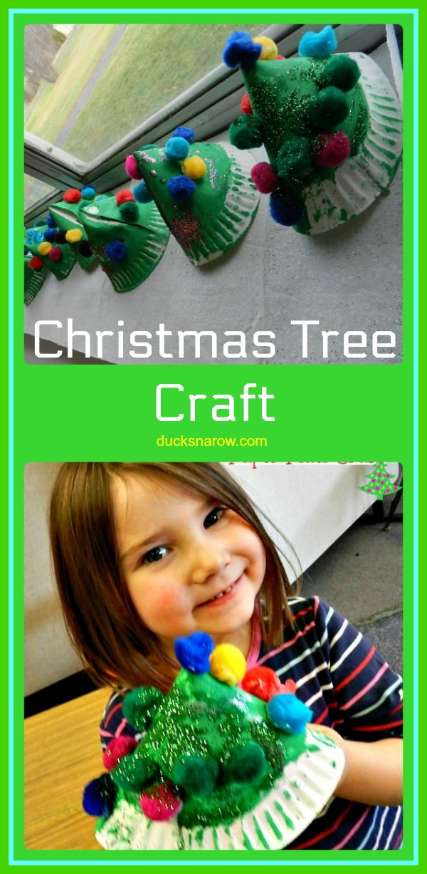 Adorable paper plate Christmas tree craft #kids