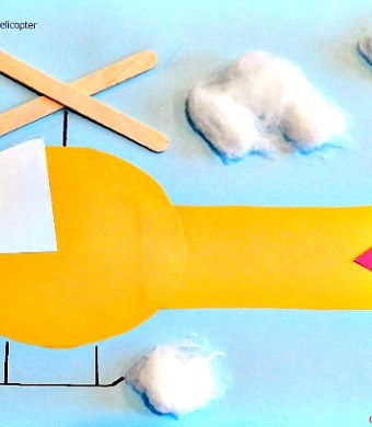 Simple preschool craft featuring helicopters